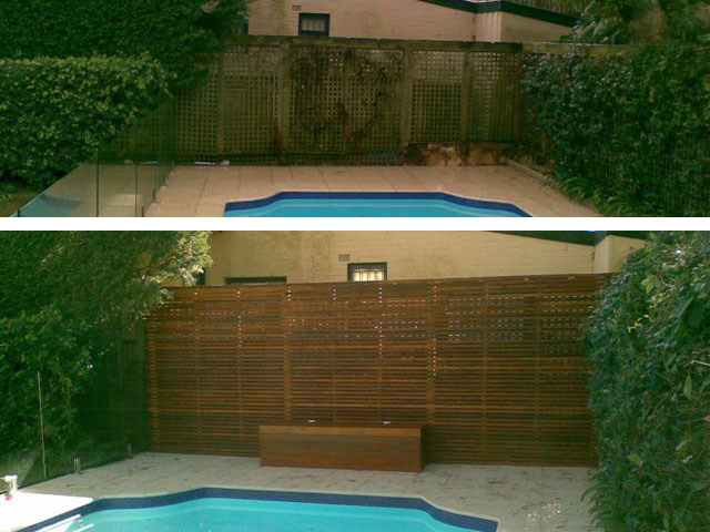 Photo gallery of outdoor timber renovations a grade for Pool privacy screen